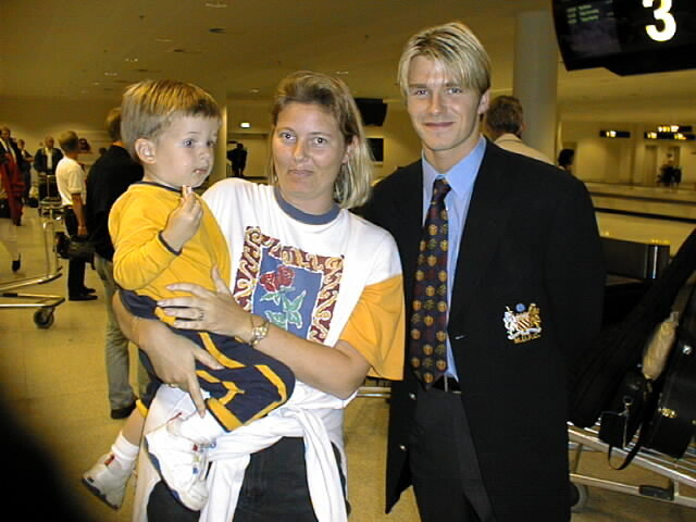 Fredrik met David Beckham 07/29/1998
